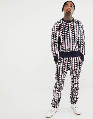 Champion reverse weave sweatshirt with all over print in navy