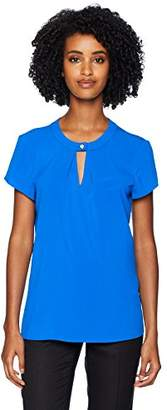 Calvin Klein Women's Short Sleeve Top with Keyhole