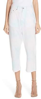 MM6 MAISON MARGIELA Bad Dye Wide Leg Crop Jeans