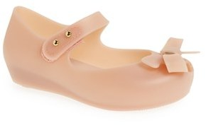 Toddler Girl's Mini Melissa 'Ultragirl - Bow' Mary Jane Flat $59.95 thestylecure.com