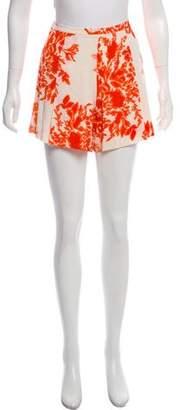 By Malene Birger Silk Printed Mini Shorts
