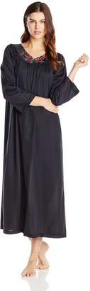 Shadowline Women's Petals 53 Inch Long Sleeve Long Gown