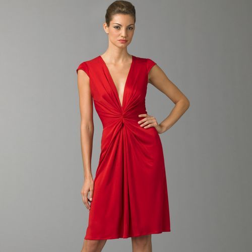 ISSA Silk Knot Front Dress