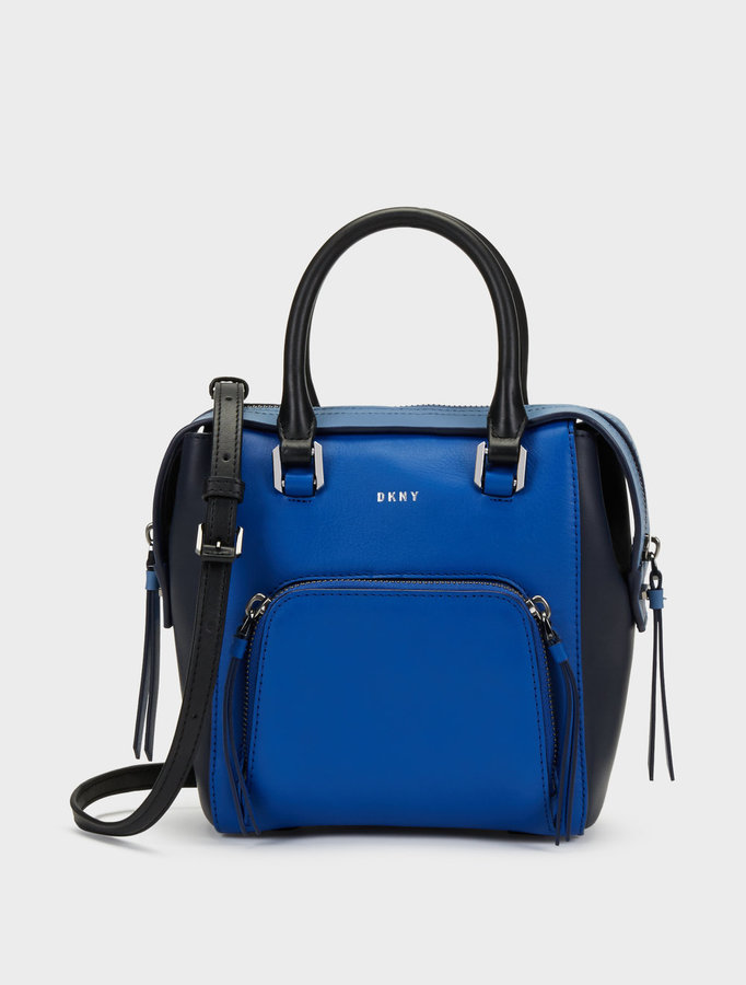 DKNYSmall Greenwich Smooth Calf Leather Colorblock Satchel