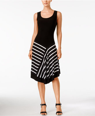 MSK Asymmetrical Printed A-Line Dress $69 thestylecure.com