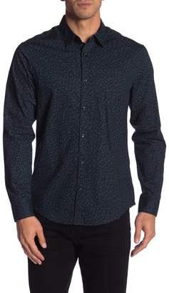 Original Penguin Patterned Long Sleeve Heritage Slim Fit Shirt