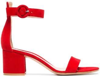Gianvito Rossi red Portofino 60 suede sandals