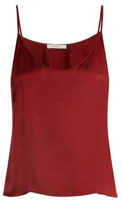 Araks Parker Silk Satin Cami Top - Womens - Burgundy