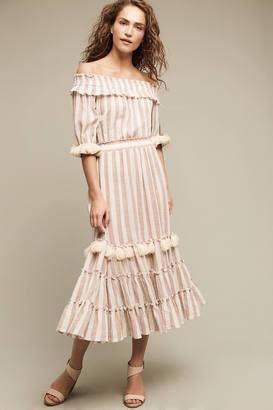 Misa Marion Off-The-Shoulder Dress $348 thestylecure.com