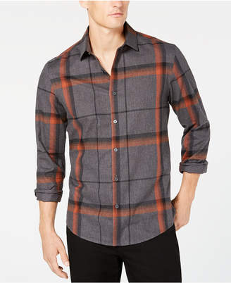 Alfani Men's Brushed Plaid Shirt