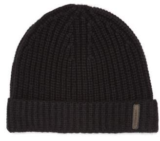 Burberry Ribbed Knit Cashmere Beanie Hat - Mens - Black