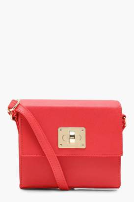 boohoo Structured Lock Cross Body