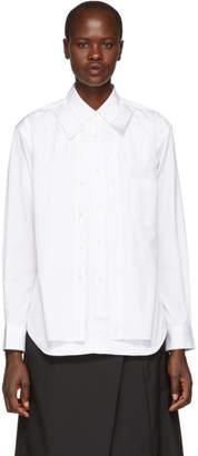 Comme des Garcons White Poplin Double Shirt