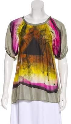 Etro Printed Silk Top