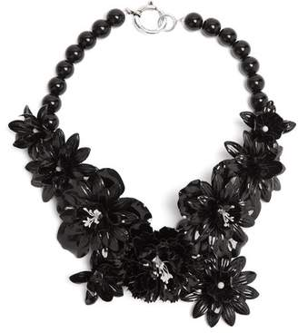 Isabel Marant Aloha Stone Flower Necklace - Womens - Black