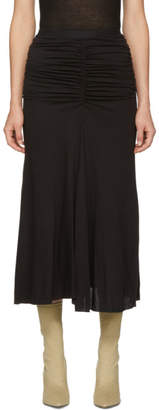 Rick Owens Lilies Black Light Jersey Skirt