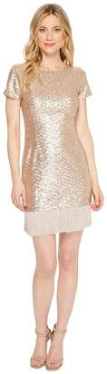 Aidan Mattox Sequin Fringe Cocktail Women's Dress