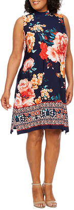 Tiana B Sleeveless A-Line Dress-Plus