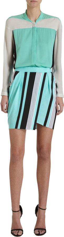 Ohne Titel Striped Wrap Mini Skirt