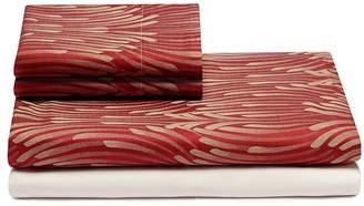 Frette Fountain king size duvet set - Red/Beige