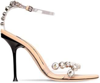 Sergio Rossi 105mm Sr Milano Plexi & Crystal Sandals
