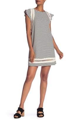 Rachel Roy Jules Stripe Cap Sleeve Dress