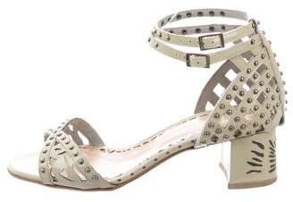 Marchesa Studded Laser Cut Sandals