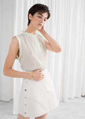 And other stories Frill Sleeveless Blouse