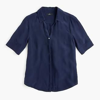 J.Crew Short-sleeve button-up shirt in silk