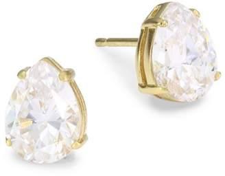 Adriana Orsini 18K Goldplated Sterling Silver Pear Stud Earrings