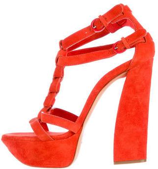 Casadei Suede Platform Sandals $155 thestylecure.com