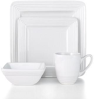 Laurie Gates Dinnerware, Dekko White 4 Piece Place Setting
