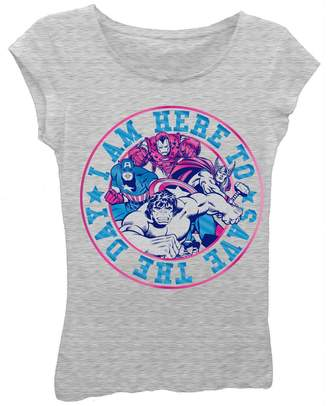 Freeze I'm Here To Save The Day Tee (Little Girls)