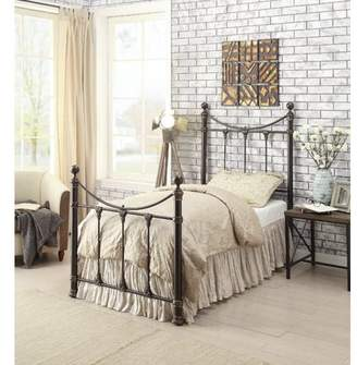 Coaster Company Gideon Twin Bed in Black Antique Brass