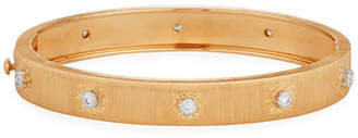 Buccellati Brushed 18K Rose Gold Bracelet with Diamonds