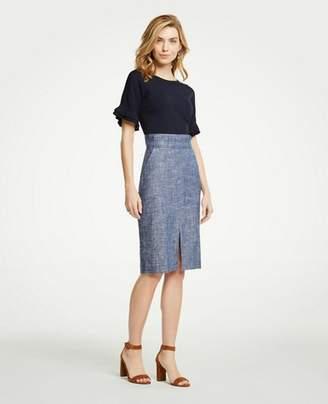 Ann Taylor Chambray Pencil Skirt