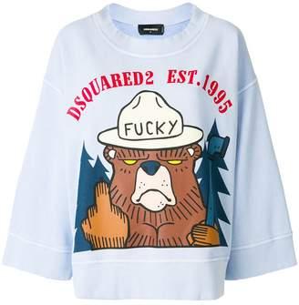 DSQUARED2 bear print jumper