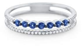 KC Designs Blue Sapphire & Diamond White Gold Ring