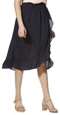 Only Dot Print Midi Frill Wrap Skirt 10