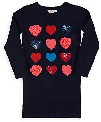 Billieblush Kids' Heart-Pattern Sweaterdress