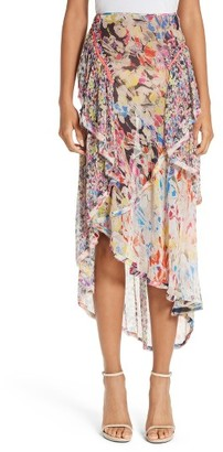 Women's Jason Wu Print Silk Chiffon Skirt $1,295 thestylecure.com