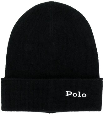 Polo Ralph Lauren cashmere logo embroidery beanie