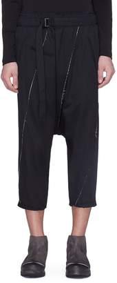 The Viridi-anne Reconstructed drop crotch wool gabardine pants