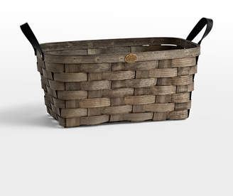 Rejuvenation Medium Ash Wood & Leather Nesting Basket