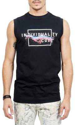 Cult of Individuality Galaxy Individuality Crewneck Cotton Tank top