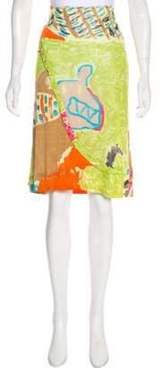 Christian Lacroix Bazar de Printed Knee-Length Skirt