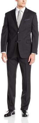 Tommy Hilfiger Men's Twill Trim Fit 2 Button Side Vent Slim Fit Suit