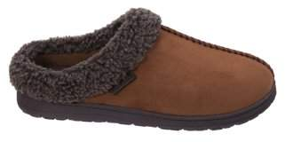 Dearfoams Men's Microsuede Clog with Whipstitch Slippers