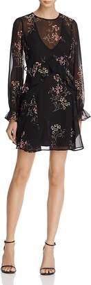 ASTR Heather Ruffle Floral Print Dress $98 thestylecure.com