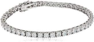 "Swarovski Amazon Collection Sterling Silver Zirconia Tennis Bracelet, 8"""